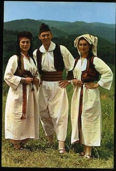 National costume from the area of Travnik, Bosnia