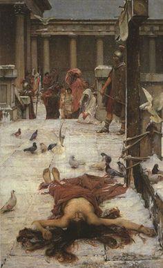 Saint Eulalia, 1885, by John William Waterhouse.