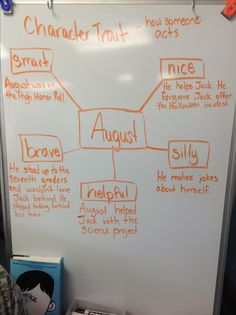 Analyzing character traits and supporting with text evidence using Wonder by R. J. Palacio
