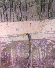 'Blotter' by Peter Doig won the first prize in the 1993 John Moores exhibition. http://www.liverpoolmuseums.org.uk/walker/collections/paintings/20c/item.aspx?tab=summary&item=WAG+1993.81&hl=1&coll=9