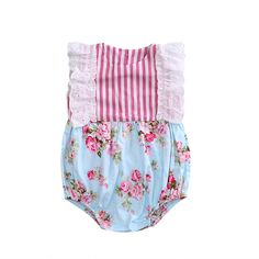 >> Click to Buy << Newborn Infant Baby Girls Clothes Lace Floral Bodysuit Striped Patchwork Summer Toddler Girls Sleeveless One-Piece Bodysuits #Affiliate