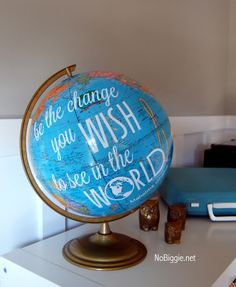 creative globe ideas with a great quote from Gandhi