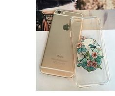 Beautiful Flower Case Cover For Apple iPhone 6 6S Case Waterproof Silicone 6 Series Ultra Thin Soft TPU Gel Silicon phone cases