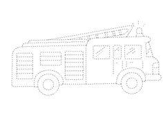 İtfaiye arabası - Çizgi Çalışması - Okul öncesi çocuklar için güzel bir çizgi çalışması.