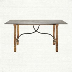 The Luca dining table collection features a beautiful weathered table base complimented by a stunning blue stone top. The rectangle dining table is a Dining Corner, Rectangle Dining Table, Trestle Dining Tables, Dining Room Furniture, Dining Room Table, Rustic Furniture, Kitchen Banquette, Top Vintage, Table Legs
