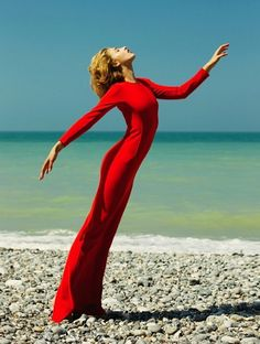 Photo ofAdeline Joaun, in Hussein Chalayan, by Nikolay Biryukov