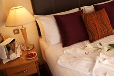 Bedside with Champagne- Harbour Hotel Galway