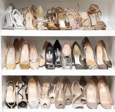 fashion, style, dream closet, accessori shoe, coveteur, epic closet, organ shoe, nude shoes3, coordin shoe