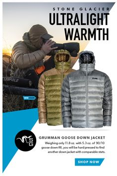 Stone Glacier's ultralight warmth only weights with a of goose down fill. You will be hard pressed to find another down jacket that keeps you this warm with such light weight quality material. Camping Checklist, Camping Survival, Survival Skills, Camping Gear, Kayak Fishing, Fishing Tips, Hard Pressed, Tactical Clothing, Dual Sport