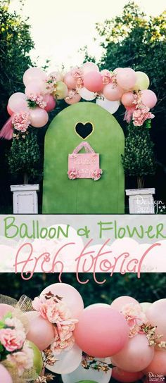 3 Beautiful Fairy Balloon Arch with Flowers