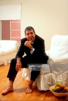 Leonard Cohen photographed in his almost bare apartment , before he left to be a Tibetan Buddhist Monk, in some pictures he is with his then 16 year old daughter Lorca May West Hollywood, Los Angeles, California (Photo by Paul Harris/Getty Images) Leonard Cohen, Adam Cohen, Barefoot Men, Idole, Famous Men, Music Icon, West Hollywood, Donald Duck, Rock And Roll