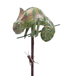 Awesome! #Iron Chameleon And Insect Wind Spinner