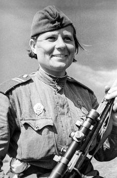 Women Sniper 1076-th infantry regiment Sergeant a. Stepanova