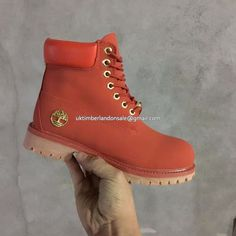 UK Timberland Men Watermelon-Red 6 Inch Premium Waterproof Boot £ 72.79  Timberland Boots For f54a44439f