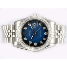 swatches.co.uk - Cheap Rolex Datejust Automatic With Diamond Bezel And Marking With Blue Dial