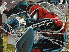 Spider-Man/Ben Reilly by Todd McFarlane (probably) Marvel Comic Character, Character Art, Ben Reilly, Scarlet Spider, Todd Mcfarlane, Spider Verse, Captain America, Comic Art, Marvel Comics