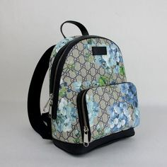 86319db2b92 Beige Blue Bloom Small W Box 427042 8493 Beige Blue Gg Coated Canvas  Backpack. Tradesy. New Gucci ...