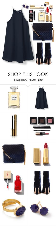 """N e w . Y e a r s . E v e . D r e s s"" by magi-418 ❤ liked on Polyvore featuring Chanel, MANGO, Dolce&Gabbana, Bobbi Brown Cosmetics, New Look, Gianvito Rossi and Ippolita"