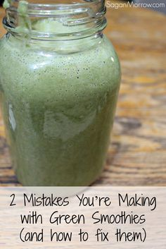 Don't make these mistakes with green smoothies! Get the best green smoothie tips from a nutrition expert and find out how to fix these common green smoothie mistakes. 10 Day Green Smoothie, Green Smoothie Cleanse, Healthy Green Smoothies, Green Smoothie Recipes, Healthy Juices, Juice Smoothie, Smoothie Drinks, Healthy Drinks, Healthy Tips