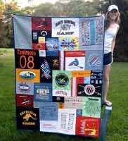 Long Distance Relationship Gift: T Shirt Quilt. Chances are, your girlfriend sleeps in one of your shirts. So this Christmas, let her sleep with all of your shirts by giving her a T-Shirt Quilt.