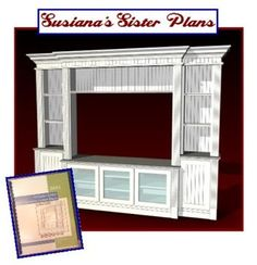 40-002 - Susianas Sister Entertainment Center Woodworking Plan