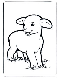 Lämmchen - Malvorlagen Haus und Bauernhoftiere