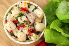 Summer Bay Scallop Lettuce Wraps