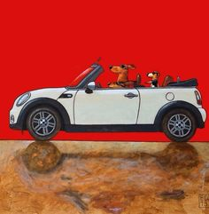 online store 2ae00 8a036 Cabrio, Dog Art, All Print, Mini Coopers, Dachshund Art, Vw Bus