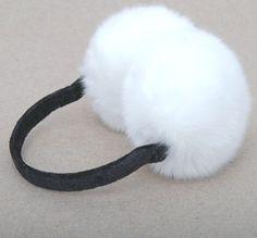 autumn winter really rabbit hair earlap adjustable women and men man ear warm earmuffs $10.80