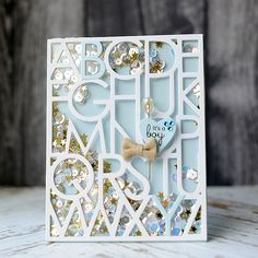 Lea Lawson Creates: LID June Release - Day 2 | it's a boy shaker card