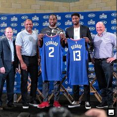 NBA: Kawhi Leonard and Paul George Officially Introduced as Clippers Players - Daily Hawker Basketball Quotes, Basketball Pictures, Nba Players, Basketball Players, Doc Rivers, Small Forward, Tracy Mcgrady, Shooting Guard, La Clippers