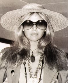 Britt Ekland as Mary Goodnight in The man with the golden gun. #007 #sunglasses http://blog.visiondirect.com.au/celebrity-style/james-bond-the-sunglasses-file.html