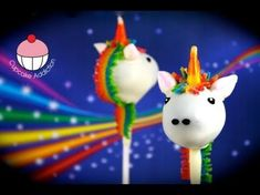 Make Unicorn Cake Pops! How to decorate a Rainbow Unicorn Cakepop by Cupcake Addiction , Learn how to make these delicious treats, and heaps more at Mycupcakeaddiction!
