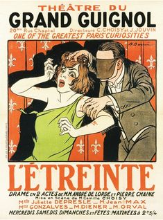 1925 Wonderfully lurid and macabre posters from the Grand Guignol | Dangerous Minds