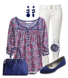 Navy Floral by maggie478 on Polyvore featuring polyvore fashion style H&M LTB by Little Big Charlotte Russe Urban Expressions Kenneth Jay Lane Croft & Barrow women's clothing women's fashion women female woman misses juniors