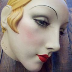 gorgeous vintage art deco style mannequin head by westernotterhico