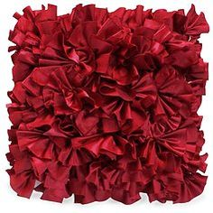 Red Ruffle Pillows, Qt.2 | Lovegood Wedding & Event Rentals
