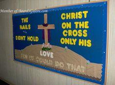 christian+bulletin+board+ideas | Great bulletin board ideas for Christian schools or ... | Church Board