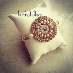 Silk Thread Necklace, Thread Bangles, Thread Jewellery, Handmade Rakhi Designs, Handmade Design, Hand Embroidery Flowers, Beaded Embroidery, Rakhi Wishes, Rakhi Bracelet