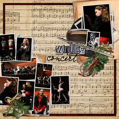 Love to do a page like this for Lauren's piano recitals!