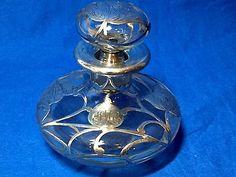 Sobreposicao-de-Prata-Esterlina-Frasco-De-Perfume-Cristal-Vidro-Com-Rolha
