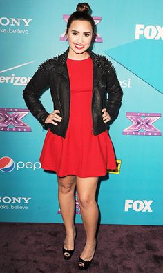 """Demi Lovato at """"The X Factor"""" Finalists Party on November 5, 2012 in LA"""
