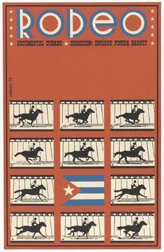 Antonio Fernandez Reboiro. Rodeo (Poster for the documentary film directed by Enrique Pineda Barnet). 1972. Screenprint. ICAIC (Instituto Cubano del Arte e Industria Cinematográficos). Gift of the Circulo de Cultura Cubana Inc.. 886.2015. Architecture and Design