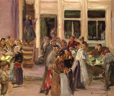 The Jewish Quarter in Amsterdam - Max Liebermann 1908