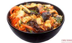 Pui Sichuan (iute) Japchae, Ethnic Recipes, Food, Essen, Meals, Yemek, Eten
