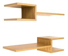 set van 2 planken julie naturel 75x17x24 cm - Tetris Planken