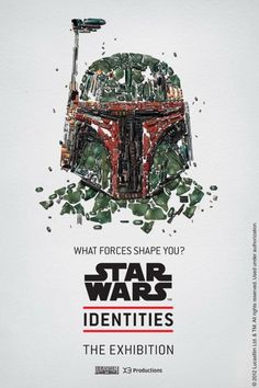 boba fett poster made for star wars identities exhibition by bleublancrouge studio Boba Fett, Starwars, Star Wars Party, Geeks, Exposition Interactive, Interactive Museum, Star Wars Personajes, Exhibition Poster, Star Wars Poster