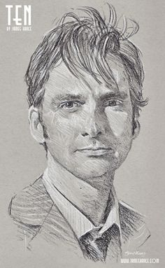 David Tennant as the Tenth Doctor, Doctor Who, by James Hance. James Hance has just completed the series of all 11 Doctors.