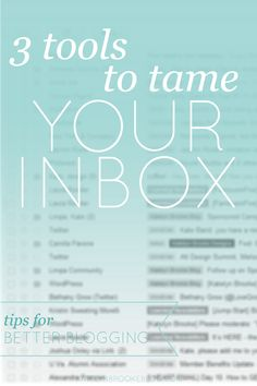For a long time I used my inbox as a running to-do list. The problem was that I wouldn't archive something until it was officially resolved and I didn't need it anymore. Do you know how long the ...