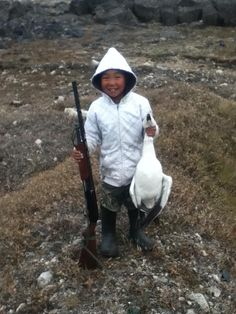 Hunting goose, photo by Ottokie Aningmiuq